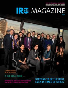 IR Global Rankings is pleased to announce the launch of the latest IRGR Magazine! The magazine includes a summary of the key findings and results of the IR Global Rankings, as well as comprehensive articles on some of the trending topics in the capital markets. To download your copy of the latest IRGR Magazine, please visit www.irglobalrankings.com