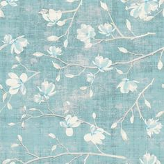 The House of Scalamandre Chinoiserie Bloom L x W Texture Wallpaper Roll (Set of Color: Mint Blue Floral Wallpaper, Lily Wallpaper, Textured Wallpaper, Wallpaper Roll, Iphone Wallpaper, Tree Branch Wallpaper, Backgrounds Girly, Blue Wallpapers, Chinoiserie