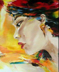 profil - Peinture, 73x91 cm ©2001 par Christian Vey -