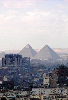 Cairo, Egypt, القاهرة‎, al-Qāhira. Call ,e crazy, still a very top life experience! Never forget the first moment I saw the pyramids rise over the city, at sunset, on the way from the airport.