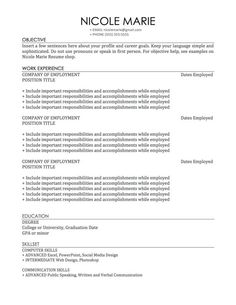 Simple Sophisticated Resume And Cover Letter Template Instant