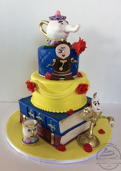 Enchanting Beauty and the Beast Cake