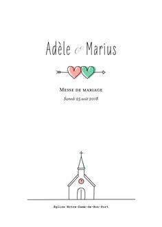 Tout aussi original et rétro que l'ensemble de la gamme Pictos, voici l'atypique livret de messe de mariage Pictos. On retrouve en première page ...