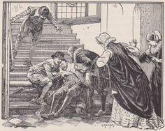 de dood van Willem van Oranje in het Prinsenhof te Delft'. gedood door Balthazar Gerards