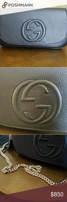 Gucci bag Gucci Soho medium black shoulder bag Gucci Bags Shoulder Bags