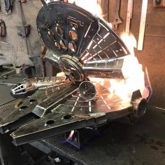 Darth Vader Helm, Vader Helmet, Millennium Falcon, Nevada, Star Wars Furniture, Microsoft, Outdoor Pavillion, Outdoor Grill, Welding And Fabrication