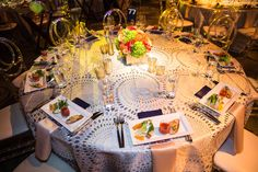 Saint John's 75th Anniversary Gala Celebration. Venue: 3Labs | Event Production, Design and Management:  JJ|LA | Floral Design: Seed Floral | Event Rentals:  Town & Country Event Rentals and Palace Party Rentals | Linen: LUXE Linen | Photographer: Michael Clifford
