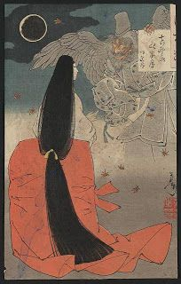 taregami hair (illustration from Tale of Genji)