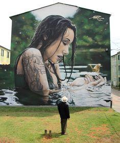 Graffiti Street Art - September 10 2018 at Murals Street Art, 3d Street Art, Street Art News, Urban Street Art, Amazing Street Art, Street Art Graffiti, Mural Art, Street Artists, Art Art