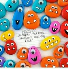 Rock monsters! Great kids craft!