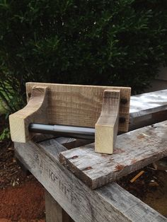 Toilet Paper holder shipping pallet by ReformedByLeviathan on Etsy