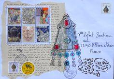 Mail art venant du Maroc