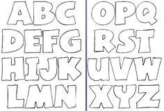 Moldes de Letras - O Mundo Das Crianças