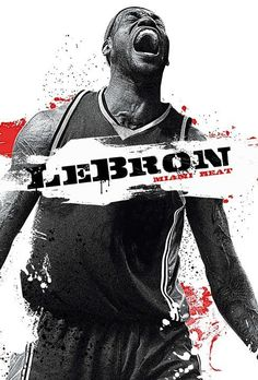 LeBron on Heat on Behance www.asportinglife.com #basketball #sportsart #design