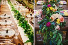 Tendencias para bodas 2016: caminos de flores y follaje #bodas…