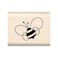 BUMBLING BEE Mounted Rubber Stamp InkaDinkaDo.  Cute to use on crafts to make a Bumble Bee themed Baby Shower!  $3.99