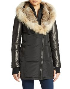 Fur-Hooded Down Coat Rudsak