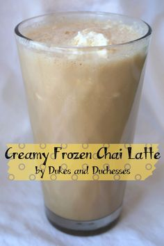 creamy frozen chai latte The recipe is simple: one envelope {or one serving amount} of instant chai tea mix or instant cappuccino mix {there's not one flavor that isn't delicious!}, 1 to 1-1/2 cups of milk {depending on how strong you like your drink}, and 1 cup of frozen cool whip. - light cool whip and skim milk!