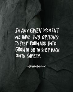 Step out of your comfort zone...