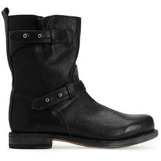 Rag & Bone Moto Boot ($595) ❤ liked on Polyvore featuring shoes, boots, ankle booties, accessories, ankle boots, women, studded biker boots, leather motorcycle boots, leather bootie and low heel booties