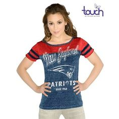 New England Patriots Touch by Alyssa Milano All Star Tee-Navy/Red