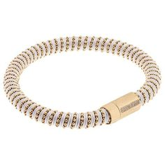 Carolina Bucci Twister Bracelet Yellow Gold ($265) ❤ liked on Polyvore featuring jewelry, bracelets, gold bangles, carolina bucci, beaded friendship bracelet, gold jewellery and gold bracelet bangle