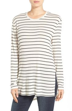 BP. Stripe Long Sleeve Crewneck Tee | Nordstrom