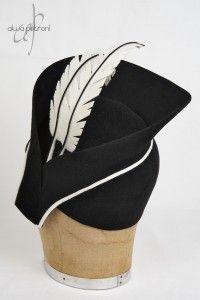 Felt Feathers (back view) -- Cloche by Alwa Petroni Fascinator, Feathers, Felt, Hats, Headdress, Felting, Hat, Feltro, Feather
