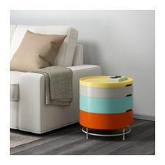 IKEA - IKEA PS 2014, Mesa de almacenaje, multicolor, , Es versátil y ahorra espacio: las bandejas se apilan formando una mesa con almacenaje.Las bandejas tienen distinto fondo para que las utilices para diferentes cosas.Los pies de plástico que incluye protegen el suelo de los rayones.