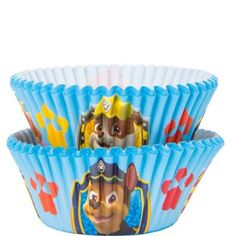 They'll lick their lips when they see cupcakes served in PAW Patrol Baking Cups! A wraparound print of Skye, Marshall, Chase, and Rubble is featured on these blue PAW Patrol cupcake wrappers. Paw Patrol Party Supplies, Kids Party Supplies, 3rd Birthday Parties, Boy Birthday, Skye Paw Patrol Costume, Paw Patrol Birthday Theme, Paw Patrol Birthday Invitations, Paw Patrol Cupcakes, Baking Cups