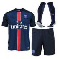 PSG Home 2015-16 Season Jersey Whole Kit(Shirt+Short+Socks)