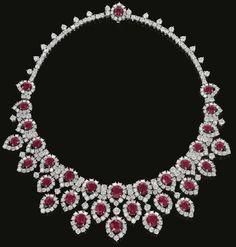 Ruby and diamond necklace, circa 1963. Bulgari.
