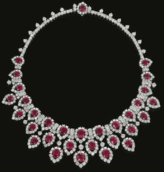 Ruby and diamond necklace, circa 1963. Bulgari.