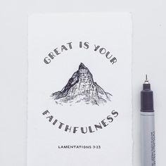 """""""Great is your faithfulness."""" - Lamentations 3:23 . No matter what happens in life God's faithfulness stays the same. Our lives will go up and down but God's character never changes. . Laura and I love to explore God's creation together. Our favorite hikes are the ones that have a beautiful view. A rugged mountain or a stunning panorama. We will hike for hours just to get a glimpse of these natural wonders. . These views are not always guaranteed though. The weather quickly changes in the…"""