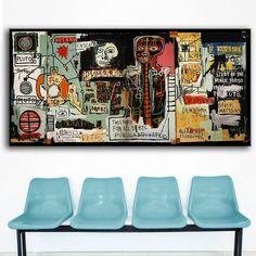 Jean Michel Basquiat Neo Expressionism Print On Canvas Jean Michel Basquiat, Jm Basquiat, Graffiti Art, Basquiat Paintings, Wall Art Pictures, Living Room Pictures, Contemporary Wall Art, Canvas Prints, Art Prints
