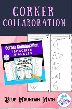 Students practice finding measures of angles in Isosceles Triangles in this group collaborative activity. Teacher passes out 4 different versions of the worksheet, students work to solve the problems getting help from their group. When the timer goes off, students meet in one of the four corners matching their worksheet to compare and correct their answers, discussing with a new group.