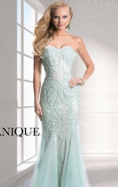 Strapless Sweetheart Gown by Janique W311