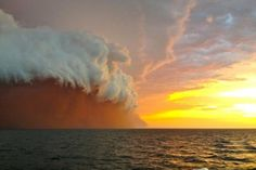 red sand storm in Australia