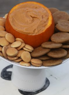 This Pumpkin Dip is the perfect thing to serve at your fall gatherings! Serve it with fresh fruit, cookies or graham crackers!
