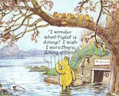 Classic Winnie the Pooh Card Featuring Piglet Thank You Card     Don t mean to be cheesy  but is there any friendship greater in this world  than the one between Pooh and Piglet