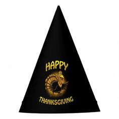Happy Thanksgiving Party Hat - thanksgiving day family holiday decor design idea