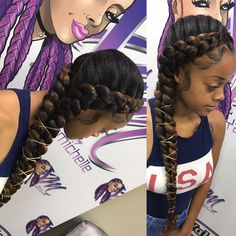 Gorgeous Butterfly Braid Styles Butterfly braids are very elegant, making them a popular choice for weddings and special occasions. Take a look at these 30 stunning butterfly braid styles. Two Braid Hairstyles, Protective Hairstyles, Girl Hairstyles, Evening Hairstyles, Protective Styles, Teenage Hairstyles, Two Braids Hairstyle Black Women, Travel Hairstyles, Fancy Hairstyles