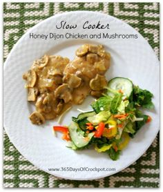 365 Days of Slow Cooking: Recipe for Slow Cooker Honey Dijon Chicken and Mushrooms