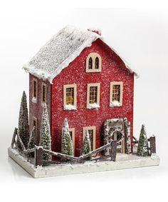 Another great find on #zulily! Red Christmas Cottage Décor #zulilyfinds