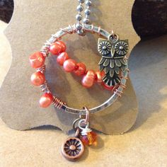 Whimsy Owl One of a Kind Handmade Mixed Media by blackriverbeads