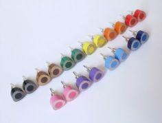 color pencil ear studs