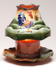 Look what I found on #zulily! Large Candle Shade & Plate #zulilyfinds