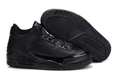 Air Jordan 3 Retro Black Black Basketball Shoes