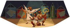 希臘戲場導演 Karolos Koun 寇溫 105 歲誕辰 - 2013年 9月 13日 Google Doodle