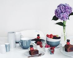 Today I'm thrilled to announce my collaboration with @steltondesign. I will be baking, styling and shooting lots of sweet treats alongside Stelton's beautiful products. First up is their pretty Emma porcelain series, perfect for gatherings with cakes, cups of coffee and dear friends. #stelton #sponsored